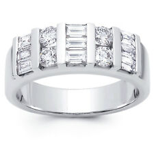 2.00 ct Baguette and Round Cut Diamond Wedding Band Ring In Platinum