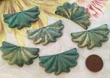 Vintage 24 x 46mm Aged Patina Brass Draped Charms Stampings Findings 2