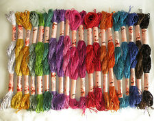 Viscose Metallic Solid Hand Embroidery Thread 20 Skeins Most Demanding Colours