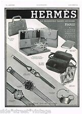 Original HERMES AD WATCHES BAG LUXURY PARIS 1939 Vintage Print Advertising SSV
