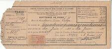 ORDRE DE PAIEMENT COMPAGNIES ASSURANCES GENERALES 1920  BRIVES  TIMBRES FISCAUX