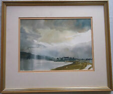 FRAMED WATERCOLOUR PAINTING by HOBBS A STUDY OF KYLEAKIN ON THE ISLE OF SKYE