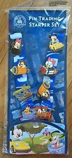 Disney Parks Mickey Mouse 8 Pin Trading Starter Set Lanyard Chip Dale Minnie