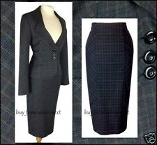 06 Laura  Ashley size 12 40s 50s wiggle Vintage pencil skirt suit ladies checked
