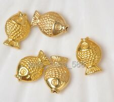 Wholesale 60pcs Tibetan Silver Antique gold fish Charms spacer beads