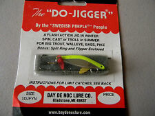 The Do-Jigger by the Swedish Pimple People- Fishing Jig 1/6oz  - Yellow/Chrome