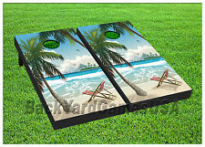 VINYL WRAPS Cornhole Boards DECAL Beach Drawing Bag Toss Game Stickers 469