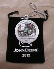 17th in series - New - 2012 John Deere Pewter Christmas Ornament