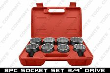 "9pc 3/4"" Drive Jumbo Socket Set Auto Body Repair Trucks Heavy Duty Chrome Plated"