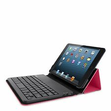 Belkin iPad Mini 1 2 3 AZERTY Portable Keyboard Folio Case/Cover Pink & Black