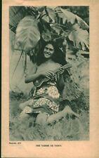 Document ancien  éxpédition du Kon-Tiki  une vahiné de Tahiti 1951