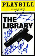 Autographed The Library Playbill signed by Tamara Tunie, Daryl Sabara, O'Keefe