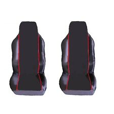 NISSAN 350Z (2005-DATE) PREMIUM FABRIC SEAT COVERS RED PIPING 1+1