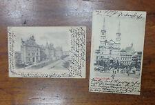 LOTTO 2 CARTOLINA POLONIA GRUSS AUS BROMBERG VIAGGIATE DEL 1900 SUBALPINA BBB