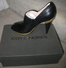 Coye Nokes Women's Audrey Peep-Toe Shoebootie Retail $510 Sz 9.5 Brand New