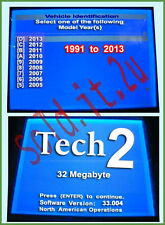 GM NAO 33.004 Card Tech2 Vetronix, OTC, HP, Tech 2 Scanner  32MB (1991-2013)