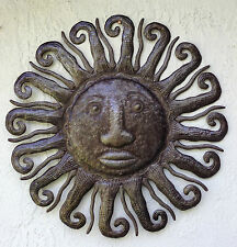 """Extra Large Sunburst Metal Wall Art Hanging Decor 34"""" from recycled metal barrel"""