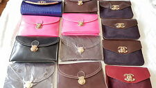 Joblot of 12 pcs Small Imitation Leather Handbag mix colour NEW Wholesale lot A1