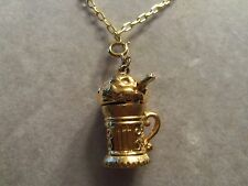 FUNKY COOL Design Goldtone 3D ICE CREAM SODA Charm Pendant Necklace 15N413