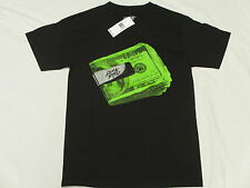 $30 NWT Mens Rocksmith T-Shirt Money Clip Tee Black Urban *Made In USA Sz S L497