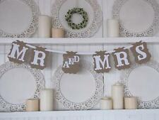 MR & MRS Bunting Wedding Ceremony Garland Banner Prop Hanging Sign Decor