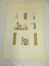 1806 French COLOR Print/LADIES COSTUMES, CLOTHING & ORNAMENTS/14TH CENTURY