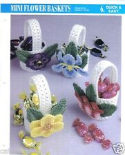 """Mini Flower Baskets""  plastic canvas pattern  ~ Annie's International"