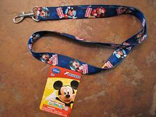 Lanyard Key Holder Disney Mickey Mouse ClubHouse Blue Strap