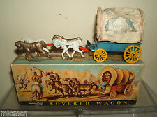 VINTAGE QUALITOY'S / BENBROS  MODEL No. XXX COVERED WAGON & HORSES  VN MIB