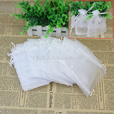 60Pcs White Jewellery Organza Pouches Bags for Wedding Part Small Gift hot