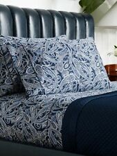 Ralph Lauren Costa Azzurra Paisley 3 PC Queen Sheet Set Flat Pillowcases