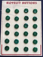 """Vintage Buttons - 1930's 24 Small """"Jade Green"""" 2-hole Casein Buttons"""