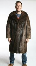 Size XL Great Beaver Fur Men Full Length Coat [139]