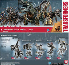 Transformers 2014 Exclusve Dinobots Unleashed Metallic Chrome SLUG Complete Set