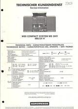 Nordmende Original Service Manual für Midi Compact System MS 3001