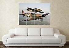 Large Spitfire Dambusters RAF Plane Army Wall Poster Art Picture Print