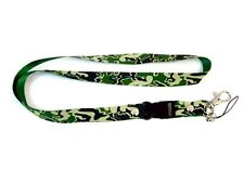 MOBILE PHONE/IDENTITY CARD NECK STRAP GREEN ARMY CAMOUFLAGE UK DESPATCHED
