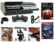 PlayStation 3 Backwards Compatible 60GB Console + 5 Games PS3 Bundle Lot CECHA01