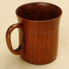 Natural Wood Cup Handmade Primitive Drinking Coffee Tea Beer Camping Wooden Mug