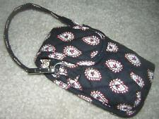 VERA BRADLEY Quilted Small Wallet Wristlet Black Paisley