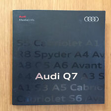 Audi Q7 quattro  Pressemappe press info 05/2010