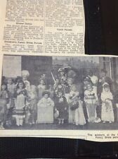 A2-1 Ephemera 1948 Children Fancy Dress Canterbury Drill Hall Dawn Cooper Ann