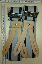 HERKULES  suspenders      Made in Germany   grey / blue    size Extra Large