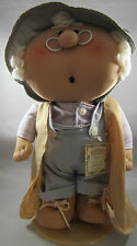 "Bumpkins Vintage Plush Cloth Doll Old Moe 1984"" Bunkies by Fabrizio 12"""