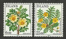 Iceland 586-587 (1984) MNH/OGnh VF/XF {Illustrated Floral}