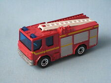 Matchbox Dennis Sabre Fire Engine Red Silver and Yellow Toy Model Car Boxed