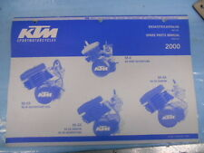 2000 KTM 50 JR Adventure SX Junior SX Senior Engine Spare Parts Manual 320495