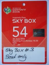 TICKET Hospitality FIFA WM 2006 Schweiz - Ukraine Match 54 in Köln