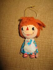 Vintage Christmas Ornament Fabric JAPAN Raggedy Ann Rag Doll