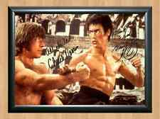 Bruce Lee Chuck Norris Way Dragon Signed Autographed A4 Photo Print Memorabilia
